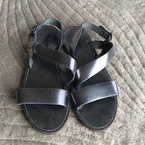 Madewell silver sandals